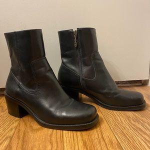 Harley Davidson Black Leather Ankle Boots